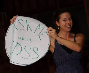 Mary holding CDSS sign