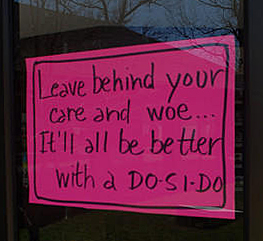 """""""Leave behind your care and woe..."""""""
