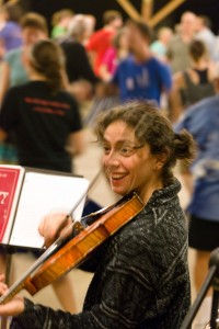 Contra dance at E&A Week, Pinewoods Camp, MA